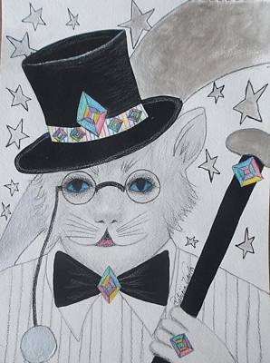 Painting - Top Hat And Tails Kitty by Patricia Voelz