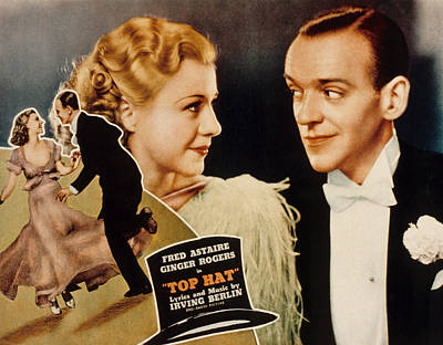 Posth Photograph - Top Hat, Lobbycard, Ginger Rogers, Fred by Everett