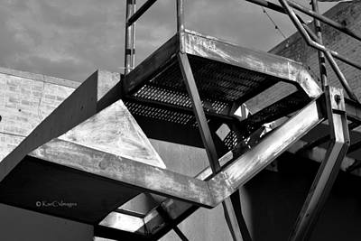 Photograph - Top Landing Of Fire Escape by Kae Cheatham