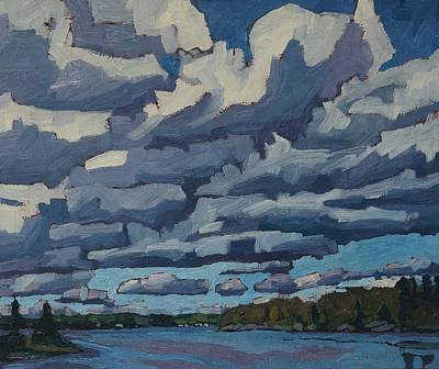 Painting - Top Lit Cumulus by Phil Chadwick