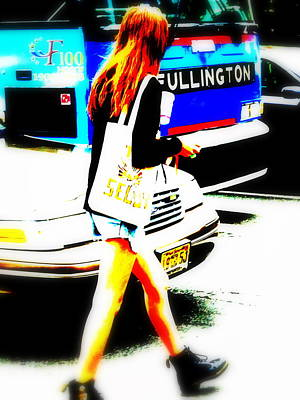 Funkpix Digital Art - Top Model In Manhattan by Funkpix Photo Hunter