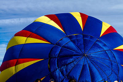 Photograph - Top Of A Hot Air Balloon by Teri Virbickis