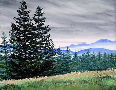 Painting - Top Of Bald Hill by Laura Iverson