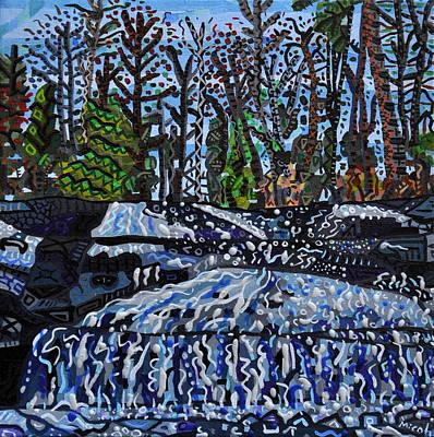 Dupont Painting - Top Of Bridal Veil Falls by Micah Mullen