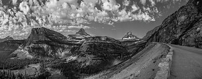 Photograph - Top Of Going To The Sun Road Black And White  by John McGraw
