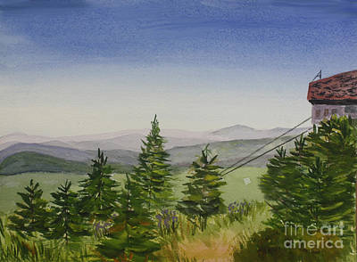 Top Of Jay Peak In Summer Art Print by Donna Walsh