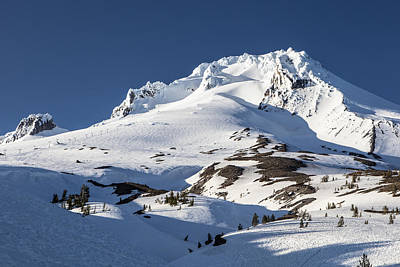 Photograph - Top Of Mt Hood Blue Sky by John McGraw