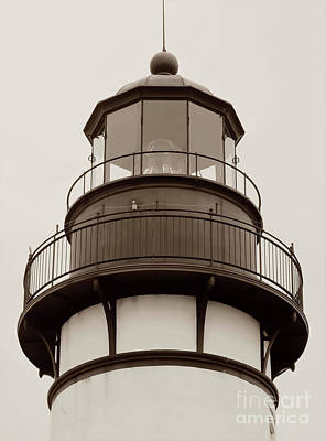 Photograph - Top Of The Amelia Island Lighthouse Sepia by D Hackett