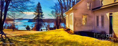 Top Of The Hill, Friendship, Maine Art Print by Dave Higgins