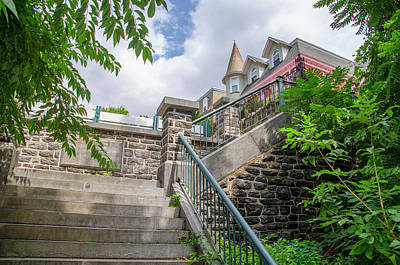 Photograph - Top Of The Hundred Steps - Wissahickon by Bill Cannon