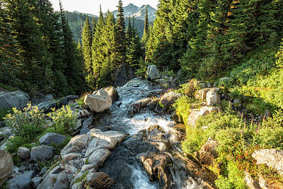 Photograph - Top Of The Morning At The Top Of Myrtle Falls by Belinda Greb