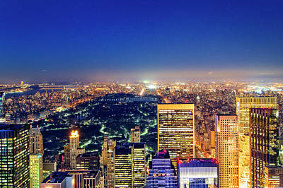 Photograph - Top Of The Rock Central Park  by Alan Raasch
