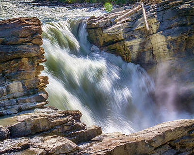 Photograph - Top Plunge Of Athabasca Falls by Brian Brandt