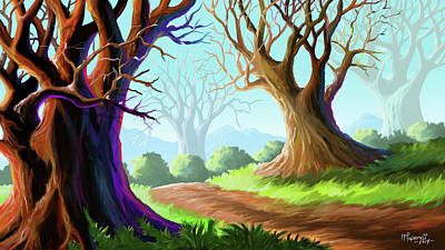 Painting - Top Roots by Anthony Mwangi