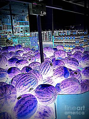 Photograph - Top Secret Area 51 Watermelons by Richard W Linford