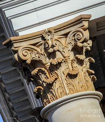 Photograph - Top Shelf Too Morgan County Court House Column Architecture Art by Reid Callaway
