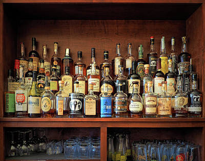 Photograph - Top Shelf Whiskey Selection by Bill Swartwout