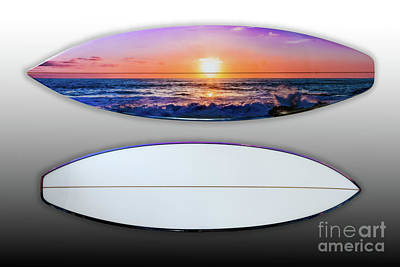 Photograph - Top Side And Bottom Side Of Surfboard Art by David Levin