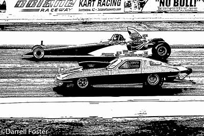 Drag Racing Mixed Media - Top Sportsman by Darrell Foster