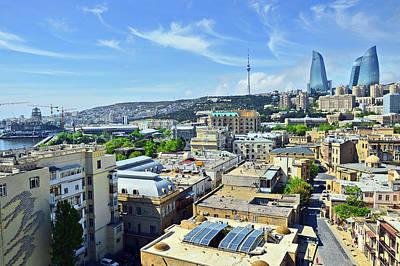 Top View. Baku. Old Town. Original