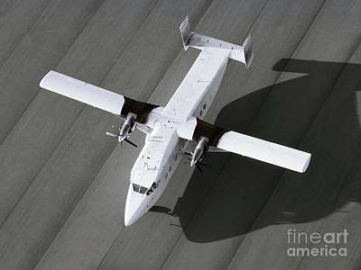 Transportation Photograph - Top View Of A Single Engine Airplane Ready To Take Off by Dani Prints and Images
