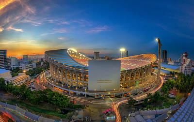 Top View Of Rajamangala Stadium  Art Print