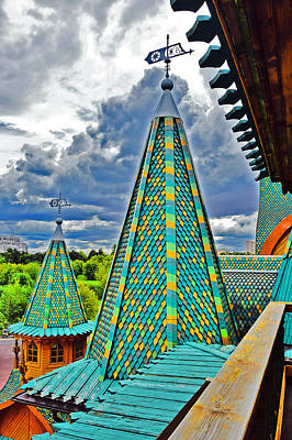 Top View. Wooden Palace Of Tsar Alexei Mikhailovich. Original