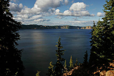 Top Wow Spot - Crater Lake In Crater Lake National Park Oregon Art Print by Christine Till