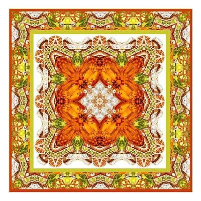 Digital Art - Topaz And Peridot Bling Kaleidoscope by Charmaine Zoe