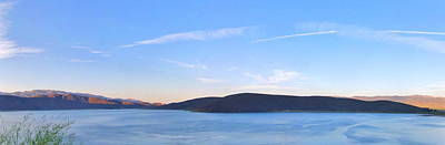 Photograph - Topaz Lake Panorama by Marilyn Diaz