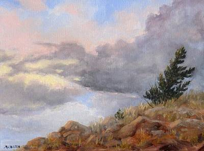 Painting - Topaz Skies by Debra Mickelson
