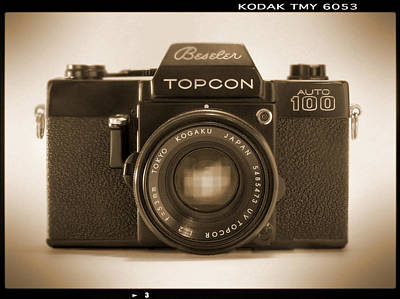 Vintage Camera Wall Art - Photograph - Topcon Auto 100 by Mike McGlothlen