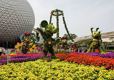 Topiaries At Spaceship Earth Art Print