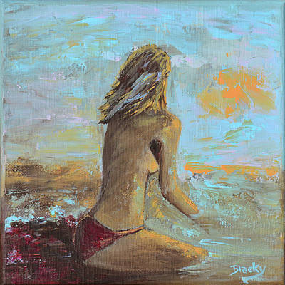 Painting - Topless Beach by Donna Blackhall