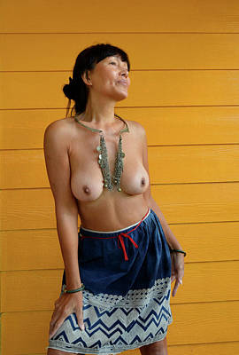 Photograph - topless Black Hmong 2 by Thu Nguyen