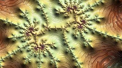 Digital Art - Topo Fractal by Ron Bissett