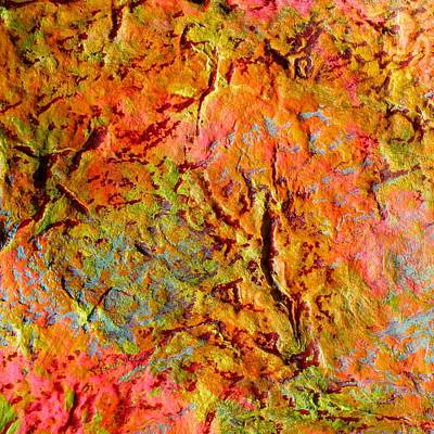 Topographical Map Color Poem Art Print by Polly Castor