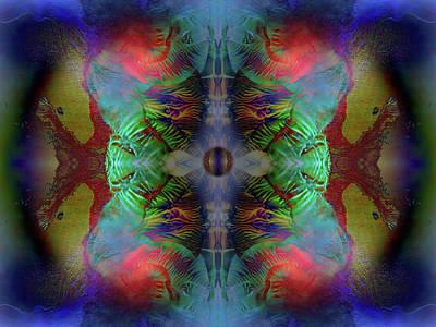 Digital Art - Topology Of Decalcomania Mirror by Otto Rapp