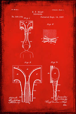 Music Ipod Mixed Media - Topophone Patent Drawing 1a by Brian Reaves