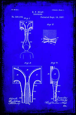 Music Ipod Mixed Media - Topophone Patent Drawing  by Brian Reaves