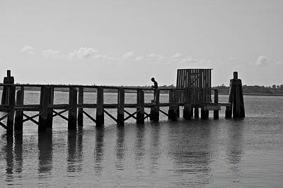 Topsail Beach Gov Access Pier Art Print by Betsy Knapp