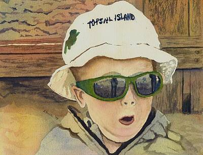 Topsail Island Painting - Topsail Hat by Steph Bucci