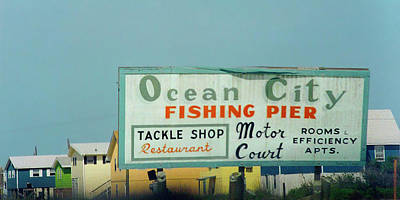Billboard Photograph - Topsail Island 1996 Ocean City by Betsy Knapp