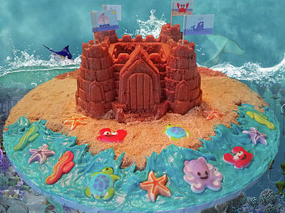 Baker Island Photograph - Topsail Island Castle Cake by Betsy Knapp