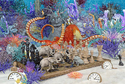 Surrealism Digital Art - Topsail Island Under the Sea by Betsy Knapp