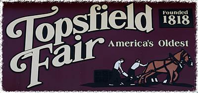 Photograph - Topsfield Fair 1818 by Caroline Stella