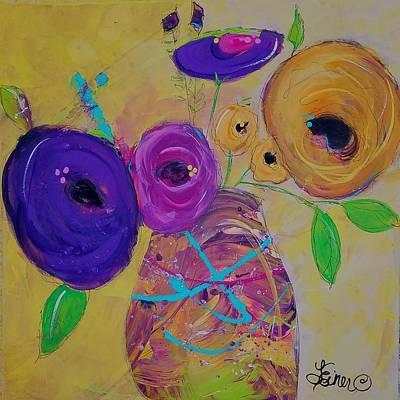 Painting - Topsy Turvey by Terri Einer