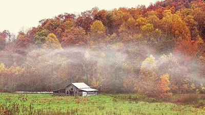 Photograph - Topton Barn In The Mist by Joe Duket