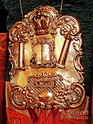 Photograph - Torah Breast Plate by Larry Oskin