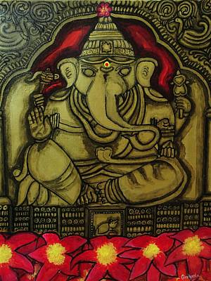 Painting - Torana Ganapati by Pratyasha Nithin